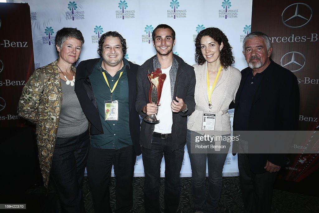 Helen Du Toit (L-R), Micahel Kananack, Adrian Saba, Debra McClutchy and Darryl MacDonald at a Festival Awards Brunch at the 24th Annual Palm Springs International Film Festival on January 13, 2013 in Palm Springs, California.