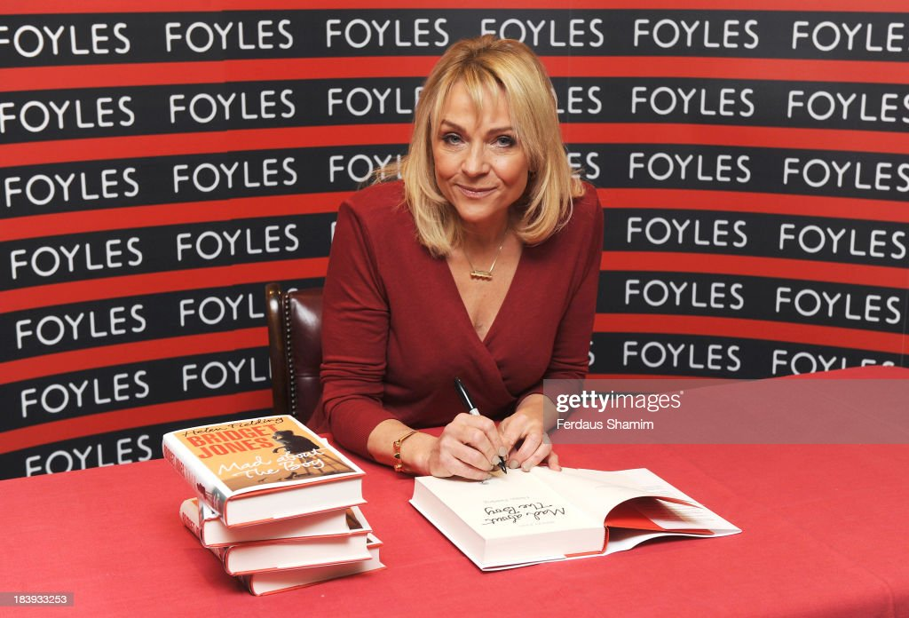 <a gi-track='captionPersonalityLinkClicked' href=/galleries/search?phrase=Helen+Fielding&family=editorial&specificpeople=209378 ng-click='$event.stopPropagation()'>Helen Fielding</a> meets fans and signs copies of her book 'Bridget Jones: Mad About The Boy' at Foyles Gallery on October 10, 2013 in London, England.
