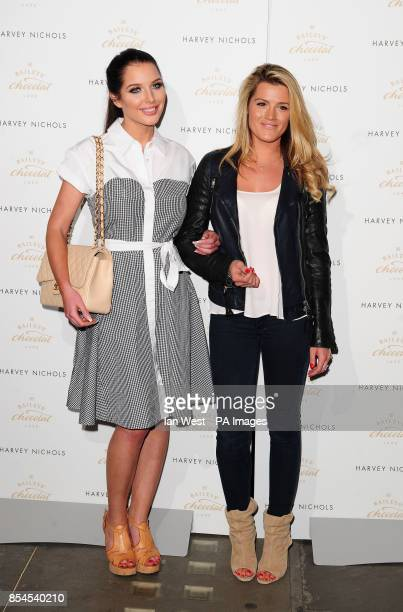 Helen Flanagan and Karis Kennedy attending the Baileys Feaster Egg Hunt at Harvey Nichols in London