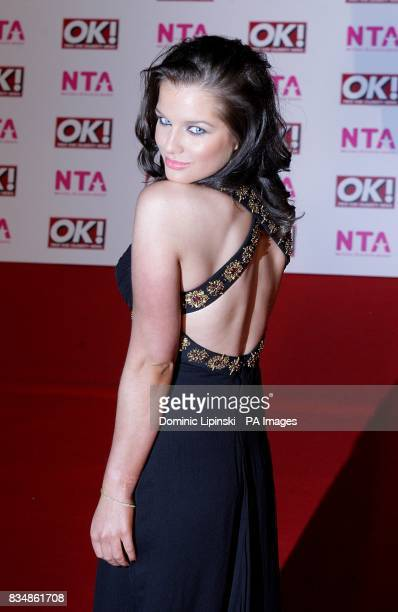 Helen Flanagan arrives for the 2008 National Television Awards at the Royal Albert Hall Kensington Gore SW7