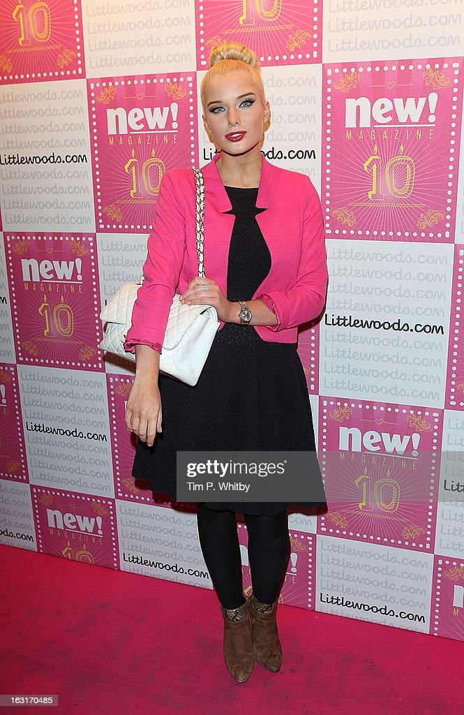 Helen Flanagan attends New Magazine Celebrates 10 years in print at Gilgamesh on March 5, 2013 in London, England.