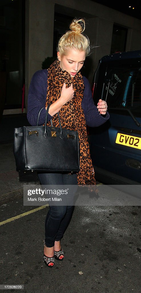 Helen Flanagan leaving the Mayfair hotel on July 2, 2013 in London, England.