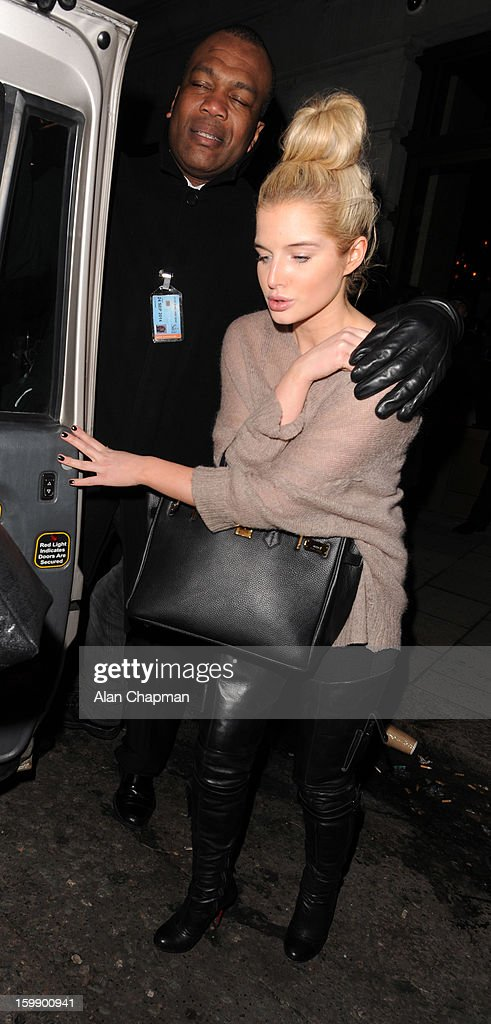 Helen Flanagan sighting in Mayfair on January 22, 2013 in London, England.