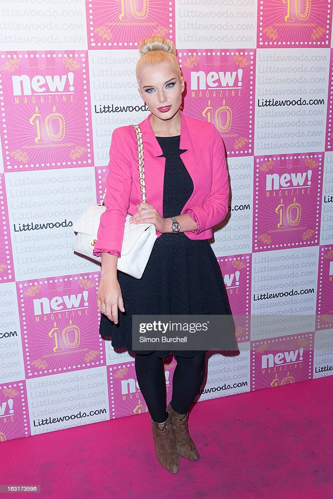 Helen Flanaghan attends as New magazine celebrate 10 years in print at Gilgamesh on March 5, 2013 in London, England.