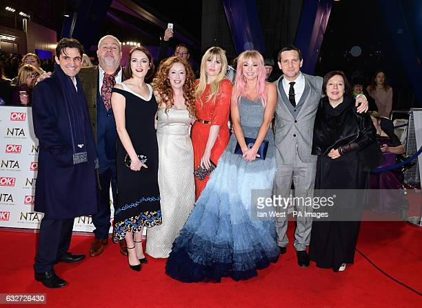 Helen George and the cast of Call The Midwife arriving at the National Television Awards 2017 held at The O2 Arena London PRESS ASSOCIATION Photo...