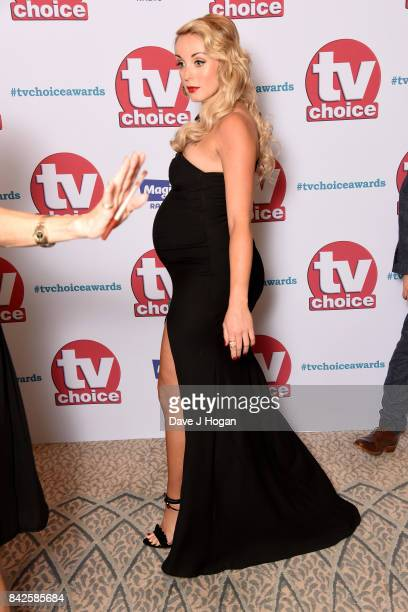Helen George arrives at the TV Choice Awards at The Dorchester on September 4 2017 in London England