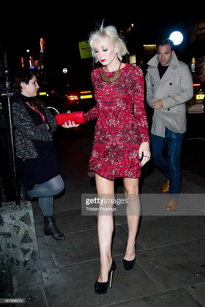 Helen George attends the launch of Flaunt Magazine's The Grind Issue at Blacks on October 19 2014 in London England
