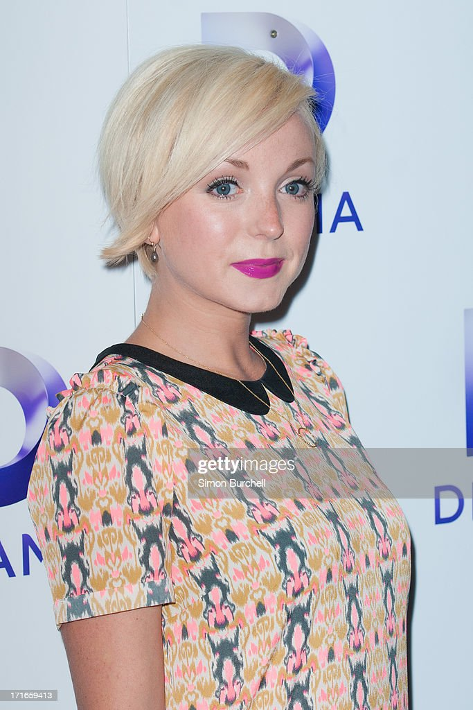 Helen George attends the launch of the new UKTV channel 'Drama' on June 27, 2013 in London, England.