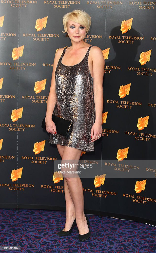 Helen George attends the RTS Programme Awards at Grosvenor House, on March 19, 2013 in London, England.