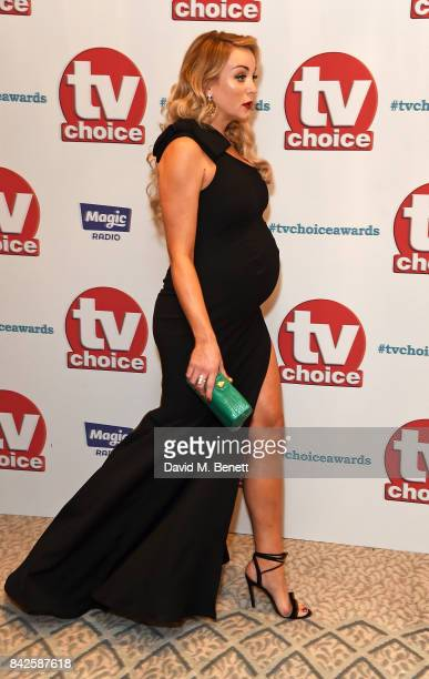 Helen George attends the TV Choice Awards at The Dorchester on September 4 2017 in London England