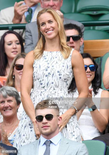 Helen Glover attends day six of the Wimbledon Tennis Championships at the All England Lawn Tennis and Croquet Club on July 8 2017 in London United...