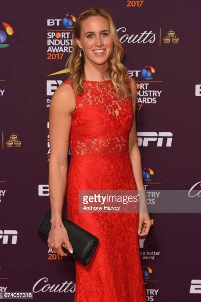 Helen Glover poses on the red carpet during the BT Sport Industry Awards 2017 at Battersea Evolution on April 27 2017 in London England The BT Sport...
