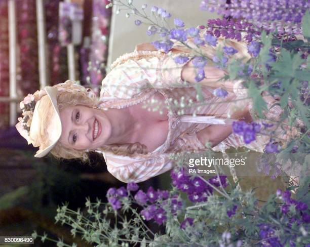 Helen Grace who played Georgia in the Channel 4 soap opera Brookside poses in the Marks and Spencers Flower stand in the theme of a Midsummers Night...