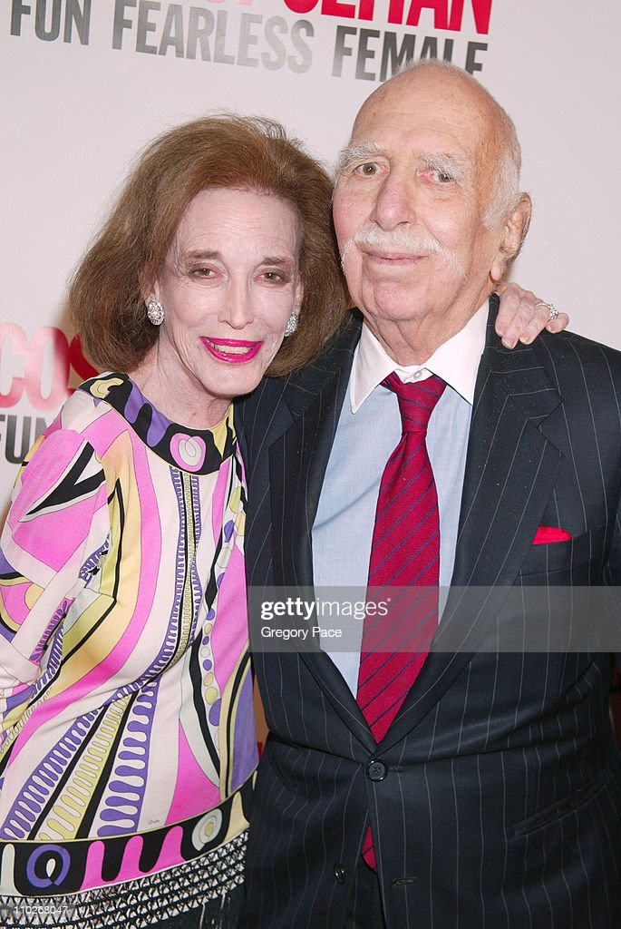 <a gi-track='captionPersonalityLinkClicked' href=/galleries/search?phrase=Helen+Gurley+Brown&family=editorial&specificpeople=215179 ng-click='$event.stopPropagation()'>Helen Gurley Brown</a> and David Brown during Cosmopolitan's 40th Birthday Bash - Arrivals and Inside at Skylight Studio in New York City, New York, United States.