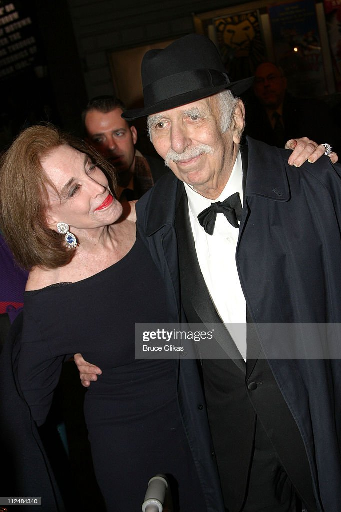 <a gi-track='captionPersonalityLinkClicked' href=/galleries/search?phrase=Helen+Gurley+Brown&family=editorial&specificpeople=215179 ng-click='$event.stopPropagation()'>Helen Gurley Brown</a> and David Brown, producer during 'Dirty Rotten Scoundrels' Broadway Opening Night at The Imperial Theater in New York City, New York, United States.