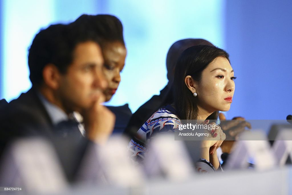 Helen Hai, Goodwill Ambassador for the UN Industrial Development Organization (UNIDO), takes part in the High-Level Roundtable on Productive Capacity, Agriculture, Food Security and Rural Development during the Midterm Review of the Istanbul Programme of Action at Titanic Hotel in Antalya, Turkey on May 27, 2016. The Midterm Review conference for the Istanbul Programme of Action for the Least Developed Countries takes place in Antalya, Turkey from 27-29 May 2016.