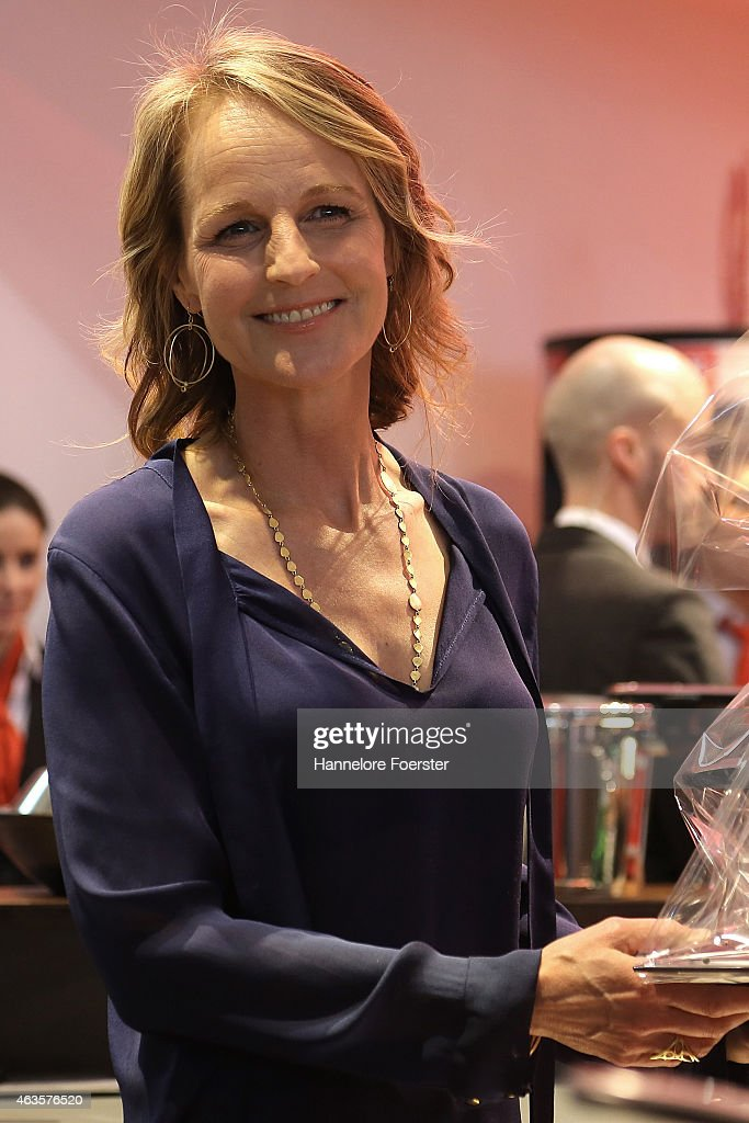 Helen Hunt an American actor attends the Ambiente Fair on February 16 2015 in Frankfurt am Main Germany