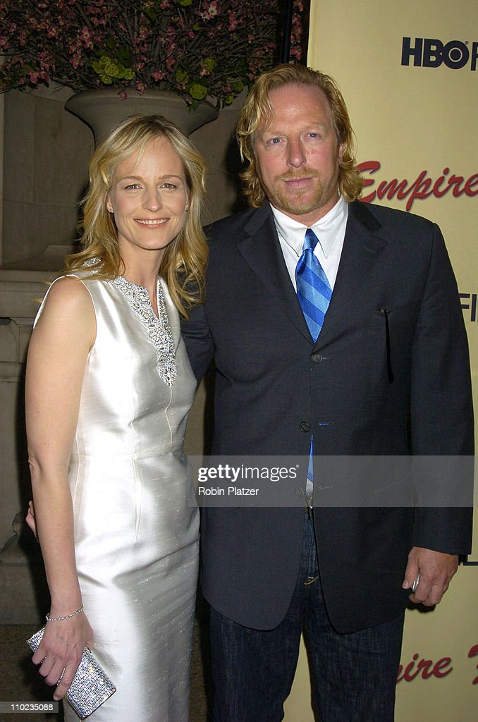 Helen Hunt and Matthew Carnahan during HBO Films 'Empire Falls' New York City Premiere at Metropolitan Museum of Art in New York City New York United...