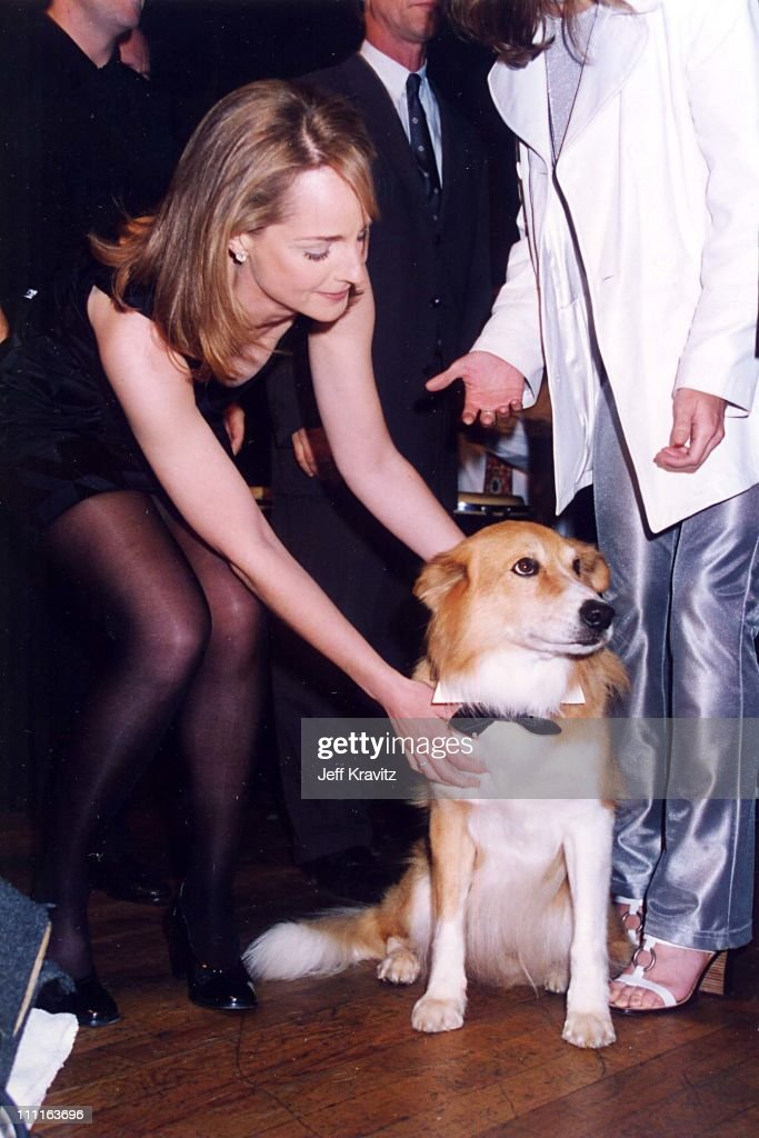Helen Hunt and Maui during Mad About You Party at House of Blues in Los Angeles California United States
