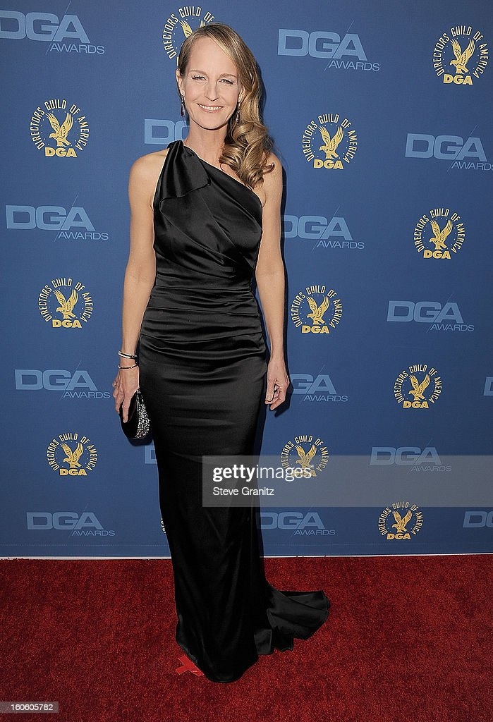 Helen Hunt arrives at the 65th Annual Directors Guild Of America at The Ray Dolby Ballroom at Hollywood & Highland Center on February 2, 2013 in Hollywood, California.