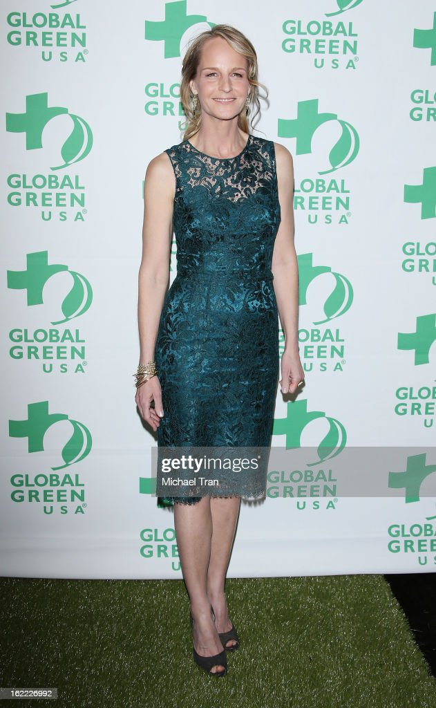 Helen Hunt arrives at the Global Green USA's 10th Annual pre-Oscar party held at Avalon on February 20, 2013 in Hollywood, California.