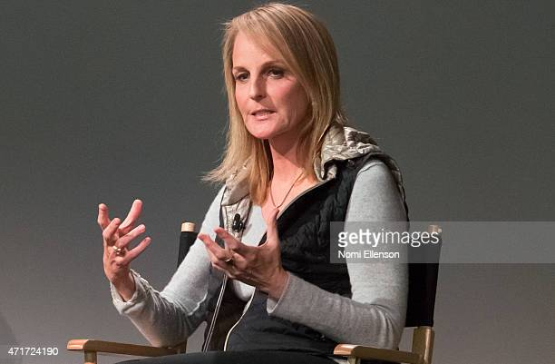 Helen Hunt attends Apple Store Soho Presents Meet the Filmmaker Helen Hunt 'Ride' at Apple Store Soho on April 30 2015 in New York City
