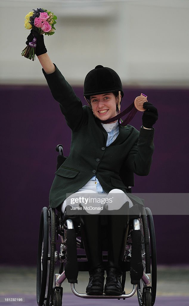 Helen Kerney of Ireland wins Bronze during the Equestrian Dressage Individual Freestyle Test - Grade 1a on day 6 of the London 2012 Paralympic Games at Greenwich Park on September 4, 2012 in London, England.