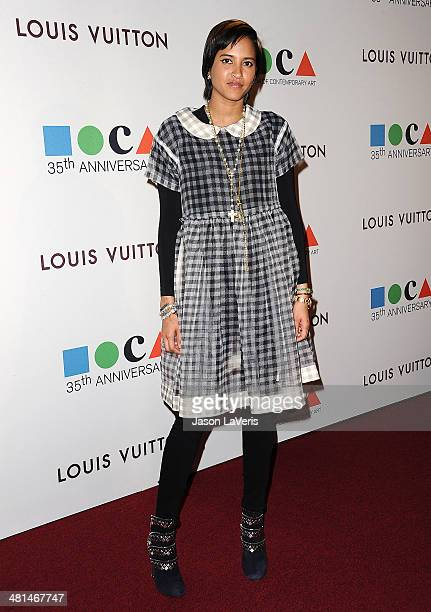 Helen Lasichanh attends the MOCA 35th anniversary gala celebration at The Geffen Contemporary at MOCA on March 29 2014 in Los Angeles California