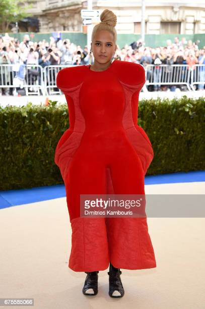 Helen Lasichanh attends the 'Rei Kawakubo/Comme des Garcons Art Of The InBetween' Costume Institute Gala at Metropolitan Museum of Art on May 1 2017...