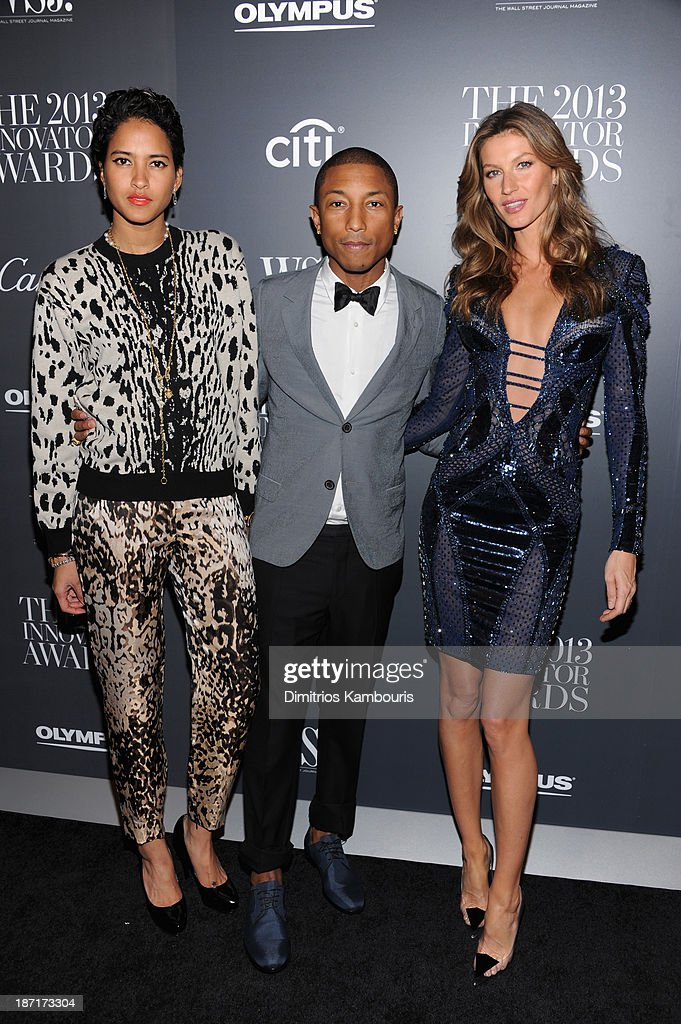 Helen Lasichanh, <a gi-track='captionPersonalityLinkClicked' href=/galleries/search?phrase=Pharrell+Williams&family=editorial&specificpeople=161396 ng-click='$event.stopPropagation()'>Pharrell Williams</a> and attends the WSJ. Magazine's 'Innovator Of The Year' Awards 2013 at The Museum of Modern Art on November 6, 2013 in New York City.