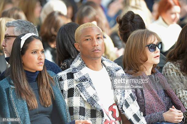 Helen Lasichanh Pharrell Williams and Isabelle Hupperts attend the Chanel show as part of the Paris Fashion Week Womenswear Fall/Winter 2016/2017 on...