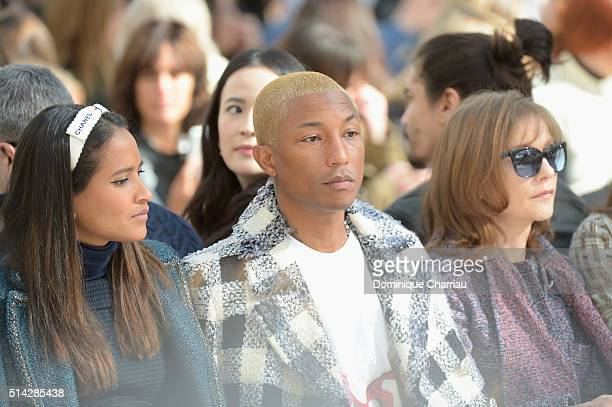 Helen Lasichanh Pharrell Williams Isabelle Huppert and Anna Mouglalis attend the Chanel show as part of the Paris Fashion Week Womenswear Fall/Winter...