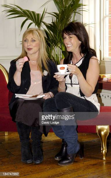 Helen Lederer and Sheree Murphy during Mr Kipling 2006 National Gossip Survey London Photocall at 68 Dean Street in London Great Britain
