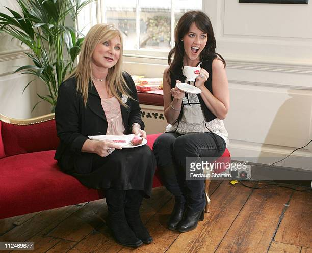 Helen Lederer and Sheree Murphy during Mr Kipling National Gossip Survey Photocall at Dean Street in London Great Britain