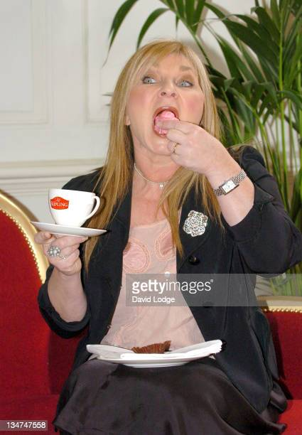 Helen Lederer during Mr Kipling 2006 National Gossip Survey London Photocall at 68 Dean Street in London Great Britain