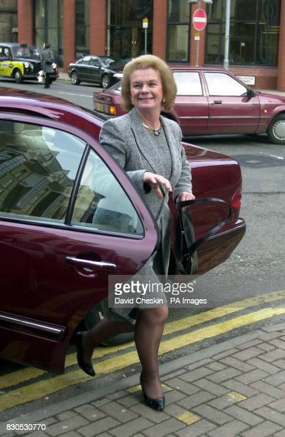 Helen Liddell arrives at Meridian House Glasgow on her first day as Secretary of State for Scotland