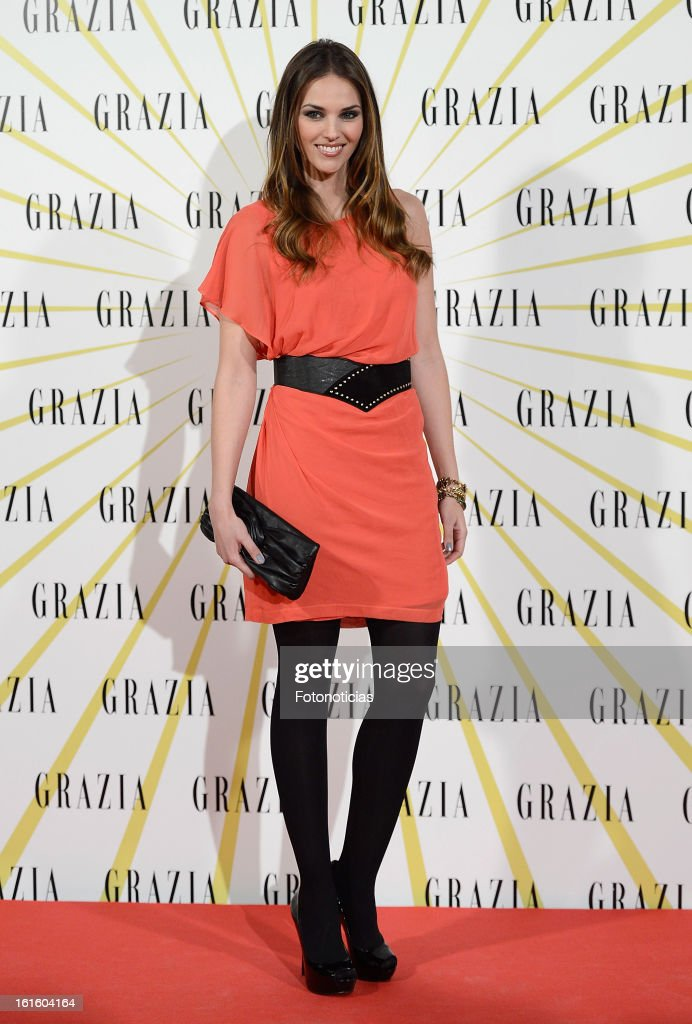 Helen Lindes attends Grazia Magazine launch party at the Circo Prize Theater on February 12, 2013 in Madrid, Spain.