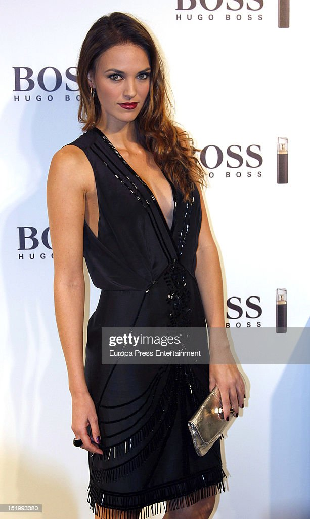 <a gi-track='captionPersonalityLinkClicked' href=/galleries/search?phrase=Helen+Lindes&family=editorial&specificpeople=3446097 ng-click='$event.stopPropagation()'>Helen Lindes</a> attends the launch of 'Boss Nuit Pour Femme' fragrance on October 29, 2012 in Madrid, Spain.