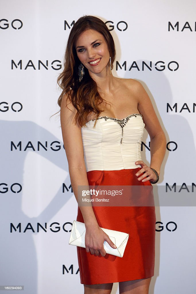 Hellen Lindes attends the photocall at the Mango fashion show as part of the 080 Barcelona Fashion Week Autumn/Winter 2013-2014 on January 28, 2013 in Barcelona, Spain.