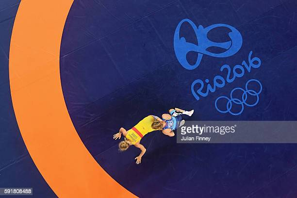 Helen Louise Maroulis of the United States competes against Sofia Magdalena Mattsson of Sweden during the Women's Freestyle 53 kg Semifinals on Day...