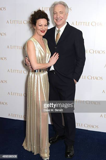 Helen McCrory and Alan Rickman attend the UK premiere of 'A Little Chaos' at ODEON Kensington on April 13 2015 in London England