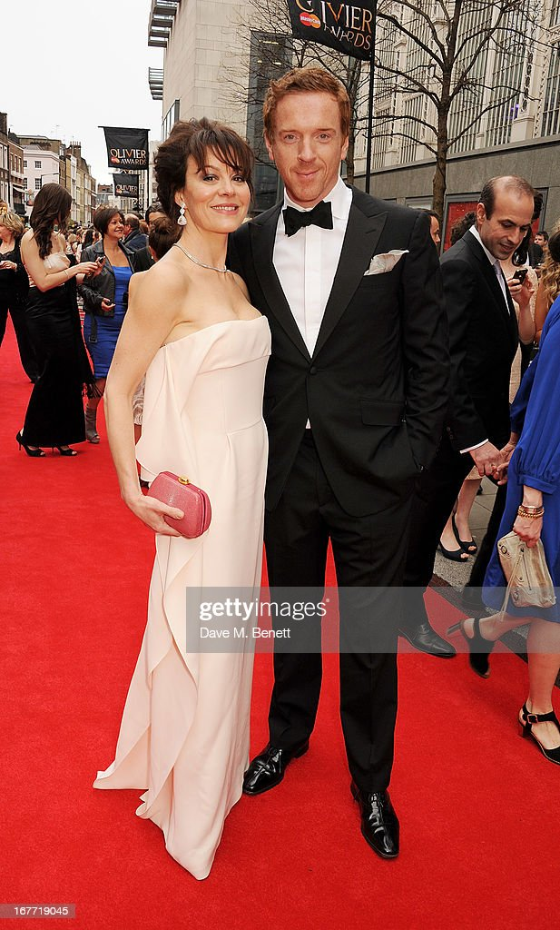 Helen McCrory (L) and Damian Lewis arrive at The Laurence Olivier Awards 2013 at The Royal Opera House on April 28, 2013 in London, England.