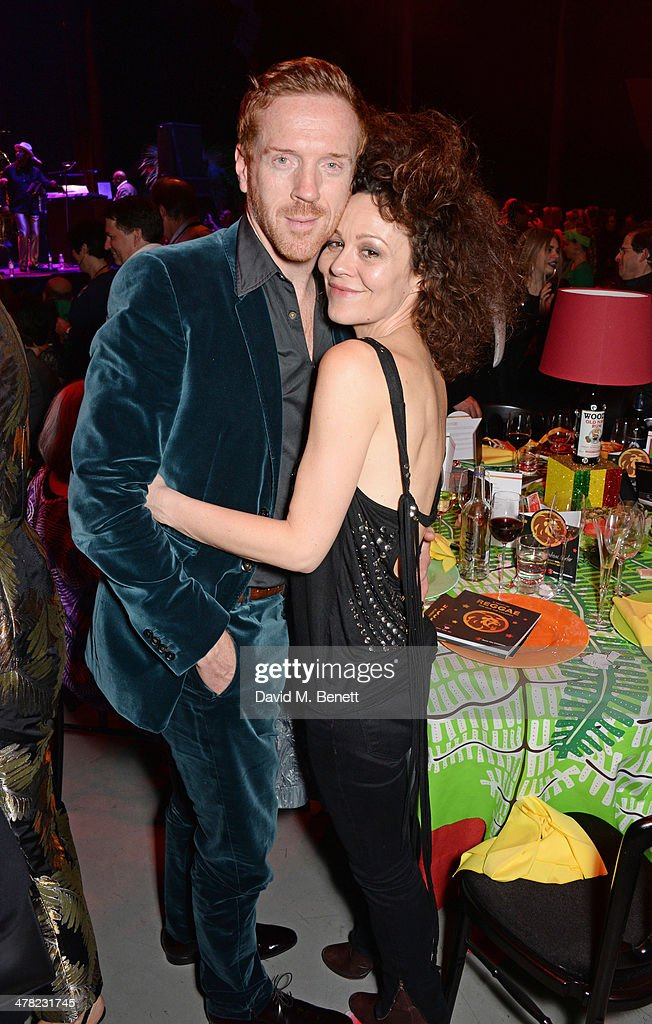 Helen McCrory (R) and Damian Lewis attend 'A Night of Reggae' hosted by Helena Bonham Carter for Save The Children UK at The Roundhouse on March 12, 2014 in London, England.