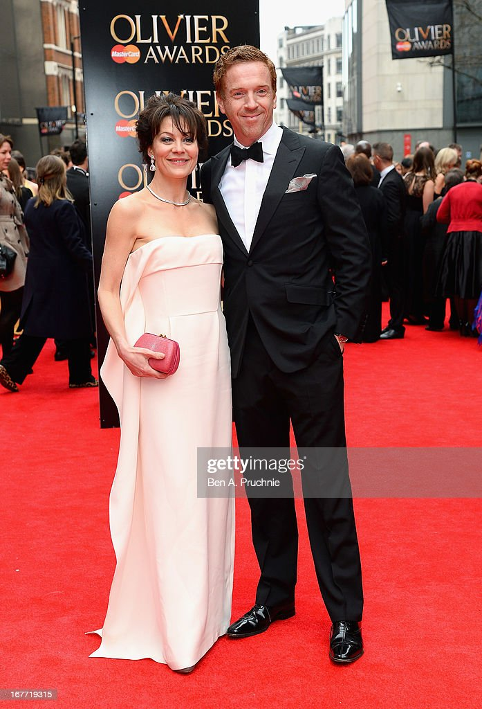 <a gi-track='captionPersonalityLinkClicked' href=/galleries/search?phrase=Helen+McCrory&family=editorial&specificpeople=214616 ng-click='$event.stopPropagation()'>Helen McCrory</a> and <a gi-track='captionPersonalityLinkClicked' href=/galleries/search?phrase=Damian+Lewis&family=editorial&specificpeople=206939 ng-click='$event.stopPropagation()'>Damian Lewis</a> attend The Laurence Olivier Awards at the Royal Opera House on April 28, 2013 in London, England.