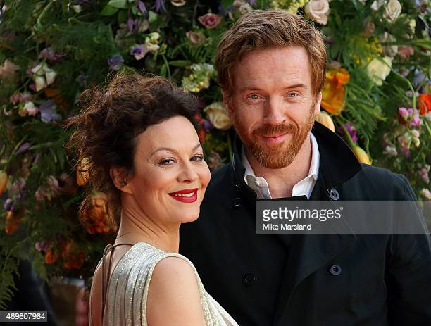 Helen McCrory and Damian Lewis attend the UK premiere of 'A Little Chaos' at ODEON Kensington on April 13 2015 in London England
