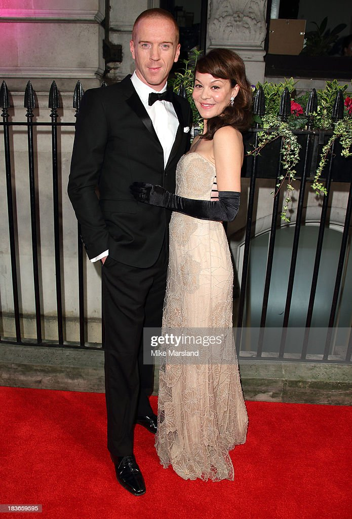 <a gi-track='captionPersonalityLinkClicked' href=/galleries/search?phrase=Helen+McCrory&family=editorial&specificpeople=214616 ng-click='$event.stopPropagation()'>Helen McCrory</a> and Damien Lewis attend a gala dinner hosted by the BFI ahead of the London Film Festival at 8 Northumberland Avenue on October 8, 2013 in London, England.