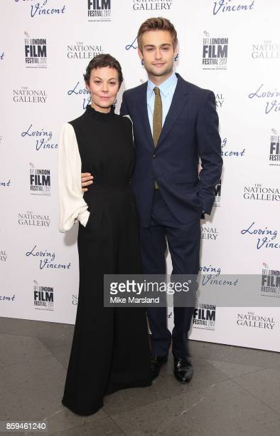 Helen McCrory and Douglas Booth attend the UK Premiere of 'Loving Vincent' during the 61st BFI London Film Festival on October 9 2017 in London...