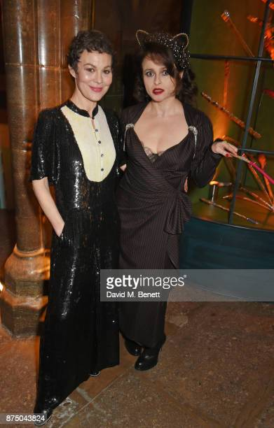Helen McCrory and Helena Bonham Carter attend Save The Children's Magical Winter Gala celebrating the 20th anniversary since the publication of the...