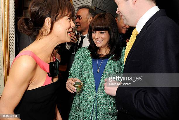 Helen McCrory and Lily Allen attend the Charles Finch and Chanel PreBAFTA cocktail party and dinner at Annabel's on February 8 2013 in London England