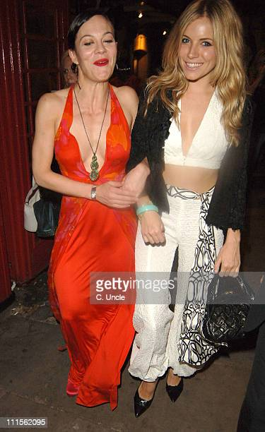 Helen McCrory and Sienna Miller during 'As You Like It' West End Opening Night Gala Departures at Wyndham's Theatre in London Great Britain